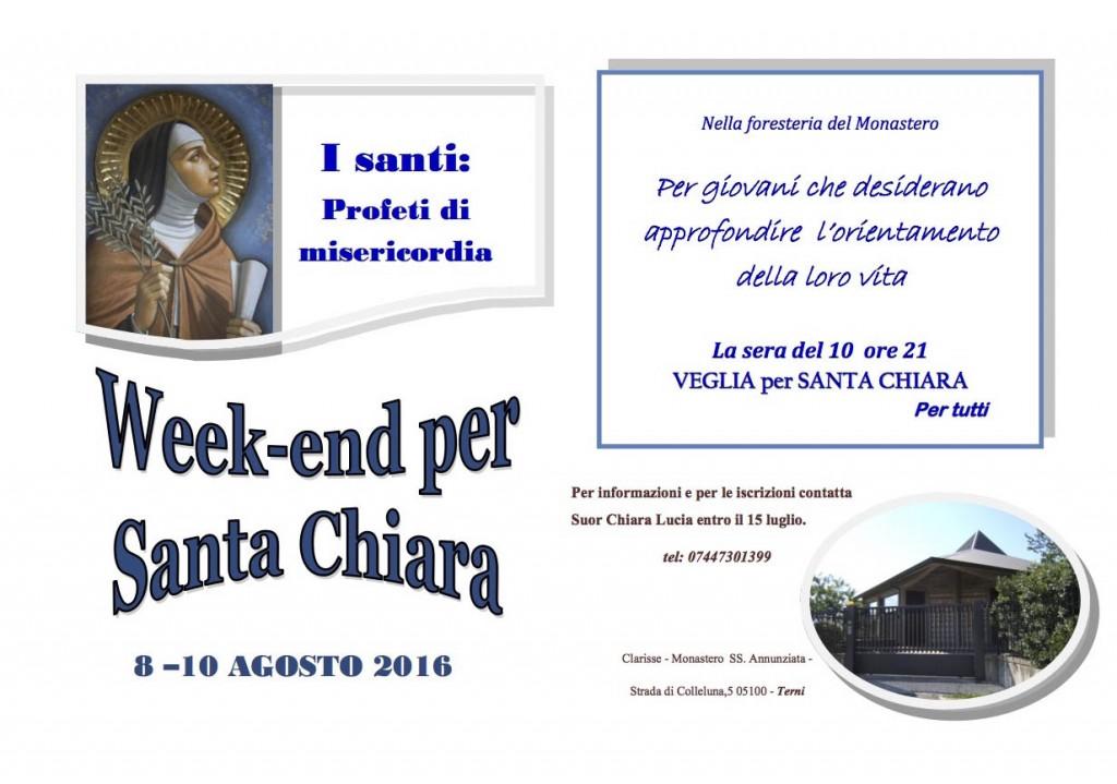 Week end Santa Chiara